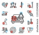 set of 13 simple editable icons ...   Shutterstock .eps vector #1131334088