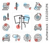 set of 13 simple editable icons ... | Shutterstock .eps vector #1131334196