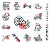set of 13 simple editable icons ...   Shutterstock .eps vector #1131334472