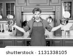chef. cooking time. cookware...   Shutterstock . vector #1131338105