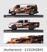 car decal  truck and cargo van... | Shutterstock .eps vector #1131342842
