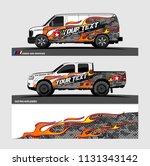 car decal  truck and cargo van... | Shutterstock .eps vector #1131343142