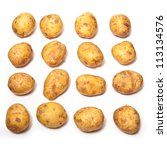 White Potatoes Isolated On A...