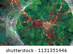 low poly mosaic background.... | Shutterstock .eps vector #1131351446