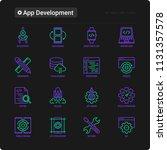 app development thin line icons ...