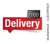 free delivery sign label tag | Shutterstock .eps vector #1131359315