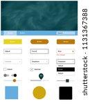 light blue  yellow vector web...