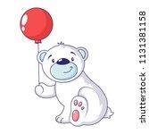 bear with air ballon icon.... | Shutterstock .eps vector #1131381158