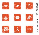 honor icons set. grunge set of... | Shutterstock .eps vector #1131381242
