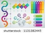 3d infographics templates set....   Shutterstock .eps vector #1131382445