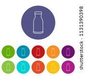 bottle shampoo icons color set... | Shutterstock .eps vector #1131390398