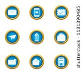 submit icons set. flat set of 9 ...   Shutterstock .eps vector #1131390485