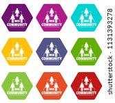 web community icons 9 set...