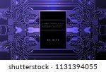 printed circuit board abstract... | Shutterstock .eps vector #1131394055