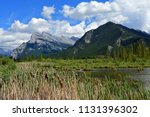 mount rundle on a sunny day  as ... | Shutterstock . vector #1131396302