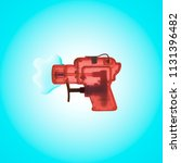 colorful squirt gun with small... | Shutterstock . vector #1131396482