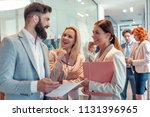 group of business people... | Shutterstock . vector #1131396965