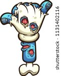 cartoon zombie hand making the... | Shutterstock .eps vector #1131402116