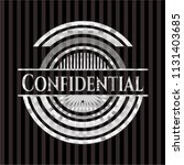 confidential silver badge | Shutterstock .eps vector #1131403685