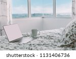 morning in modern apartment  ... | Shutterstock . vector #1131406736