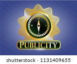 gold emblem or badge with... | Shutterstock .eps vector #1131409655