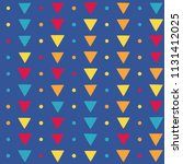 seamless pattern with triangles ... | Shutterstock .eps vector #1131412025
