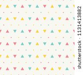 seamless pattern with triangles ... | Shutterstock .eps vector #1131413882