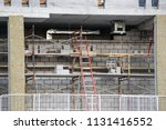 scaffolding and ladder at a... | Shutterstock . vector #1131416552