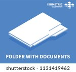 folder with documents icon.... | Shutterstock .eps vector #1131419462