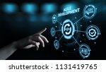 agile software development... | Shutterstock . vector #1131419765