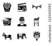 set of 9 simple editable icons...   Shutterstock .eps vector #1131423392