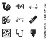 set of 9 simple editable icons... | Shutterstock .eps vector #1131424052