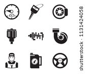 set of 9 simple editable icons... | Shutterstock .eps vector #1131424058