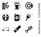 set of 9 simple editable icons...   Shutterstock .eps vector #1131424082