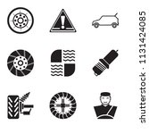 set of 9 simple editable icons... | Shutterstock .eps vector #1131424085