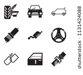 set of 9 simple editable icons...   Shutterstock .eps vector #1131424088