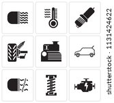 set of 9 simple editable icons... | Shutterstock .eps vector #1131424622