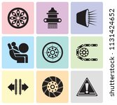 set of 9 simple editable icons... | Shutterstock .eps vector #1131424652