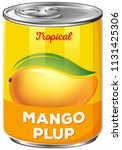 can of tropical mango pulp | Shutterstock .eps vector #1131425306