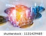 modern way of exchange. bitcoin ... | Shutterstock . vector #1131429485