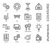 set of 16 icons such as money ... | Shutterstock .eps vector #1131431402