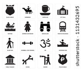 set of 16 icons such as police...