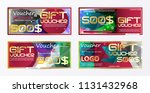 gift voucher gold template... | Shutterstock .eps vector #1131432968