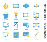 set of 16 icons such as pipette ...