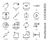 set of 16 icons such as back ...