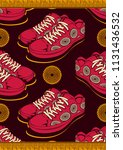 textile fashion african shoe... | Shutterstock .eps vector #1131436532