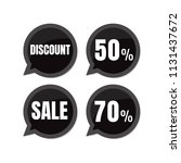 sale. discount price tags.... | Shutterstock .eps vector #1131437672