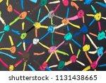 decentralize  bond or social... | Shutterstock . vector #1131438665