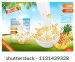 instant oatmeal with berry... | Shutterstock .eps vector #1131439328