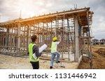 asian business man construction ... | Shutterstock . vector #1131446942
